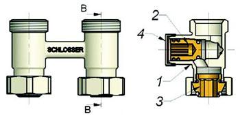 Комплекты узлов нижнего подключения Standard 6008